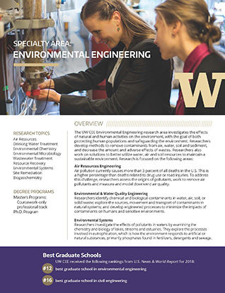 Environmental engineering flyer