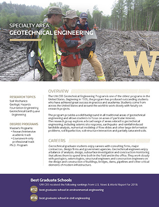 Geotechnical Engineering Research Flyer