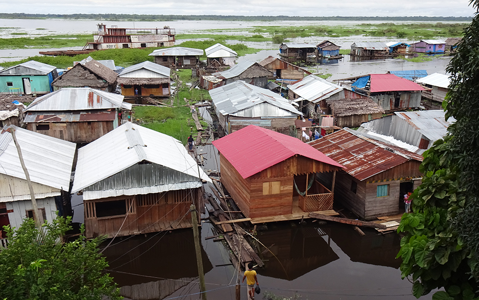 photo of floating community
