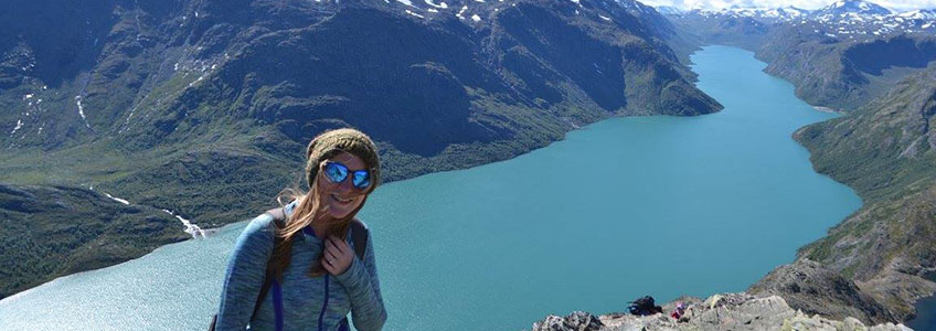 valle scholarship recipient katie price hiking besseggen ridge