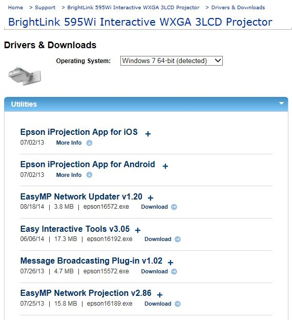 Epson Wireless Touchscreen Projectors | UW Civil