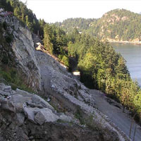 sea to sky highway construction
