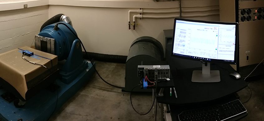 Composite plate vibrations testing