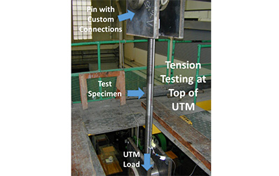 High Strength Rods undergoing tension testing