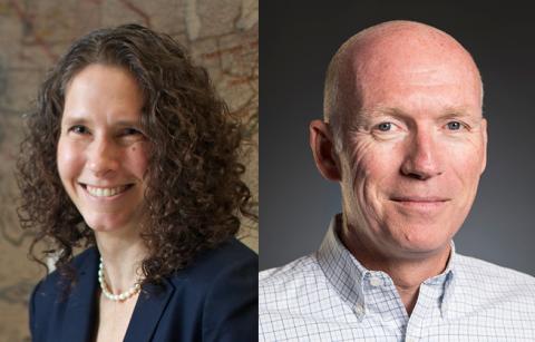 CEE faculty Dawn Lehman and Steve Kramer